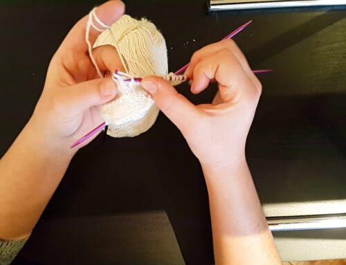 5 şiş ile çorap yapımı